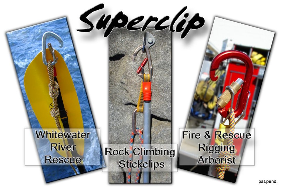 Superclip, superclip rescue, superclip for river rescue